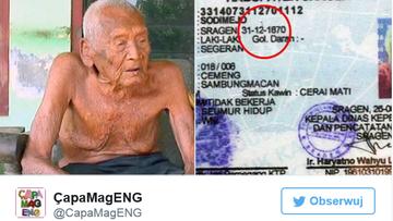 Możliwe, że to najstarszy człowiek na świecie. Twierdzi, że ma prawie 146 lat