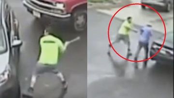 Młotem zdewastował auto i zaatakował pasażera. Policja publikuje nagranie