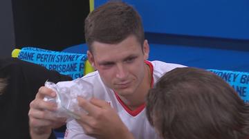 Bolesna wpadka Hurkacza zakończyła się podbitym okiem