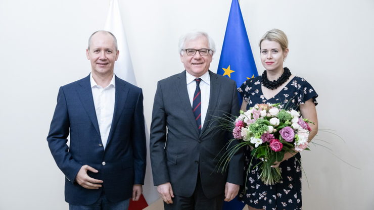 Weranika i Waler Capkała w Polsce. Spotkali się z szefem MSZ