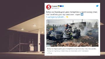 Wybuch na stacji gazowej. Dwie osoby zginęły, a 9 zostało rannych