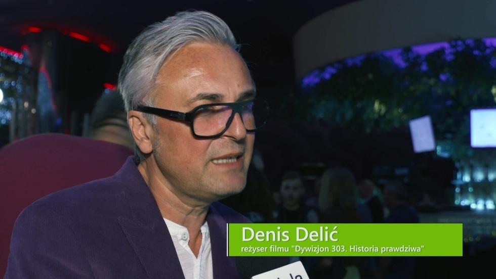 """Denis Delić na premierze """"Dywizjon 303. Historia prawdziwa"""""""