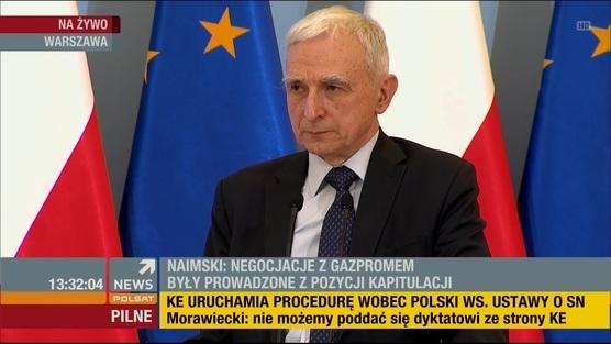 Konferencja pełnomocnika rządu P. Naimskiego dot. raportu NIK ws. umów gazowych